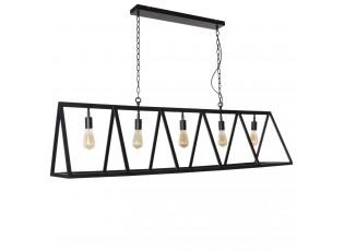 Černé závěsné kovové světlo Valerio - 150*35*38cm