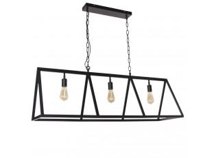 Černé závěsné kovové světlo Valerio - 120*35*38cm