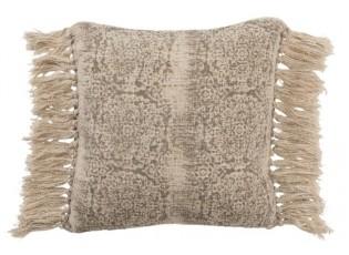 Béžový polštář Oriental s třásněmi  - 50*50 cm