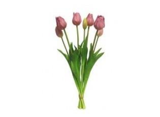Kytice tulipánů 7ks fialkové - 46cm