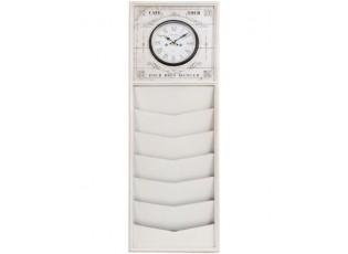 Nástěnné hodiny s přihrádkami - 35*5*100 cm