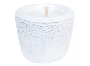 Svíčka v keramickém obalu - Ø 10*9 cm