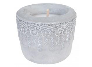 Svíčka v keramickém obalu - Ø 12*10 cm