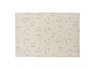 Textilní prostírání Lucky Chicken - 48*33 cm - sada 6ks