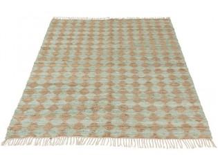 Mintovo-přírodní jutový koberec Rhombus - 200*300cm