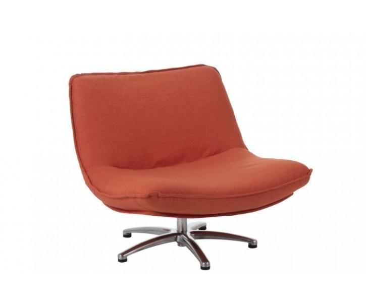 Oranžové sametové točící křeslo Turn Velvet  - 85*94*68 cm