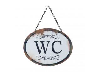 Plechová závěsná cedule WC - 17*13 cm