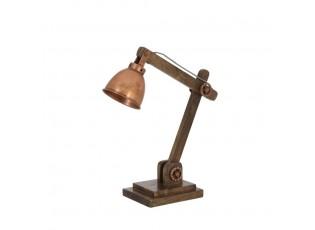 Dřevěná stolní lampička Elmer Copper - 50*15*45 cm