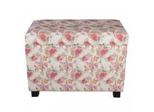 Květovaná stolička, taburet  Rose - 60*36*43 cm