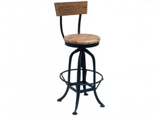 Kovová barová židle se dřevem BISTRO