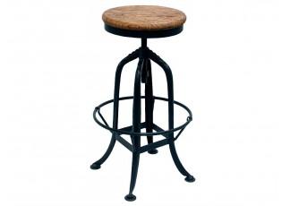 Kovová barová židle se dřevem - Ø 32*63cm