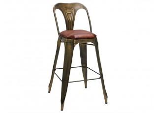 Kovová barová židle s opěrkou - 53*53*105