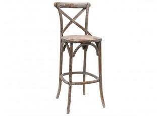 Dřevěná barová židle Rolf s patinou - 49*56*88
