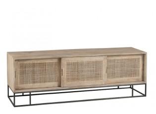 TV dřevěná komoda s dvířky Woven - 150*40*50cm
