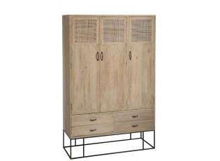 Dřevěná skříň se dveřmi a šuplíky Woven - 115*45*175cm