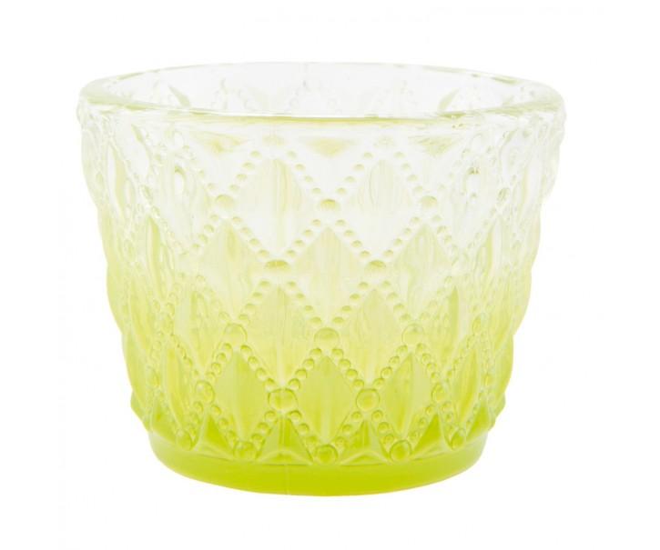 Zelený svícen na čajovou svíčku - Ø 7*6 cm
