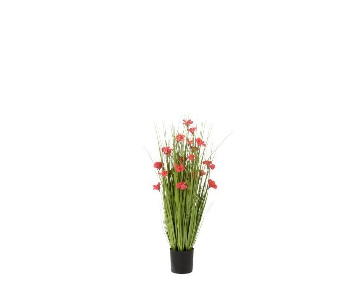 Okrasná tráva s květy - Ø 35*80cm