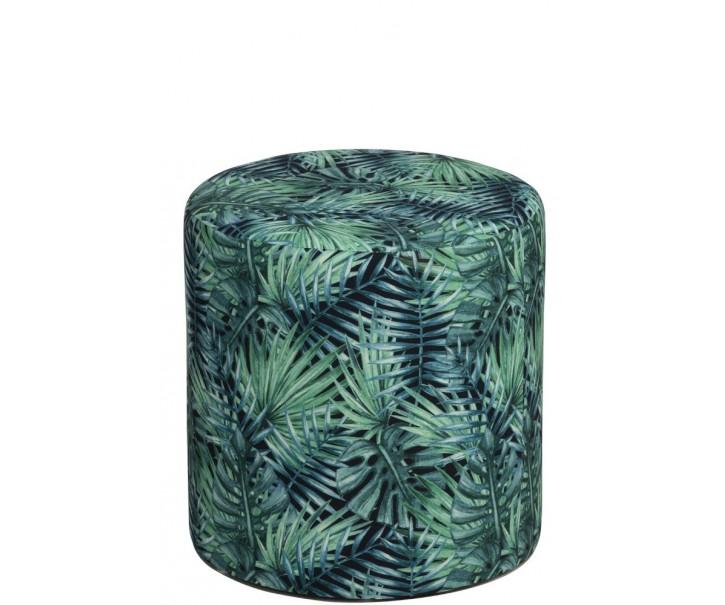 Zelený puff Tropical - Ø35*35cm