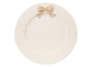 Dezertní talířek s mašličkou Bow -  Ø 13*1 cm