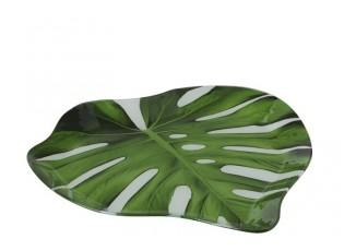 Skleněný talíř - podnos Tropical -  29*29*2,5cm