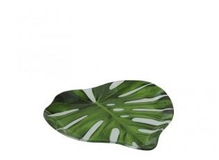 Skleněný talíř - podnos Tropical -  20*20*2cm