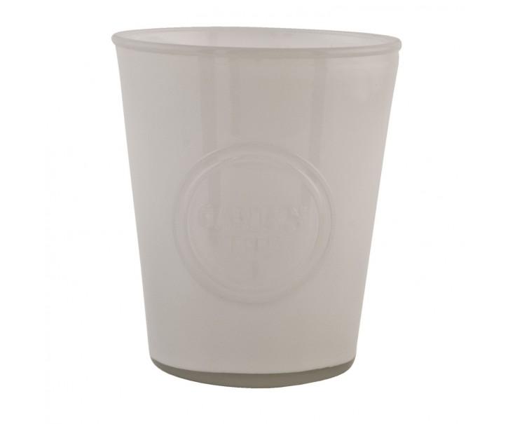 Skleněný svícen na čajovou svíčku  - Ø 14*16 cm