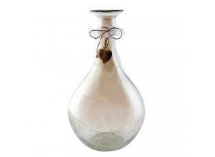 Dekorativní skleněná váza s popraskáním - Ø21*38 cm