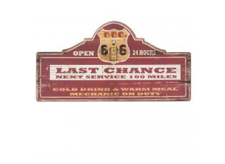 Nástěnná dřevěná cedule Last Chance - 60*2*30 cm