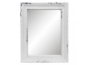Stolní dřevěné zrcadlo s patinou a odřením -  20*2*25cm