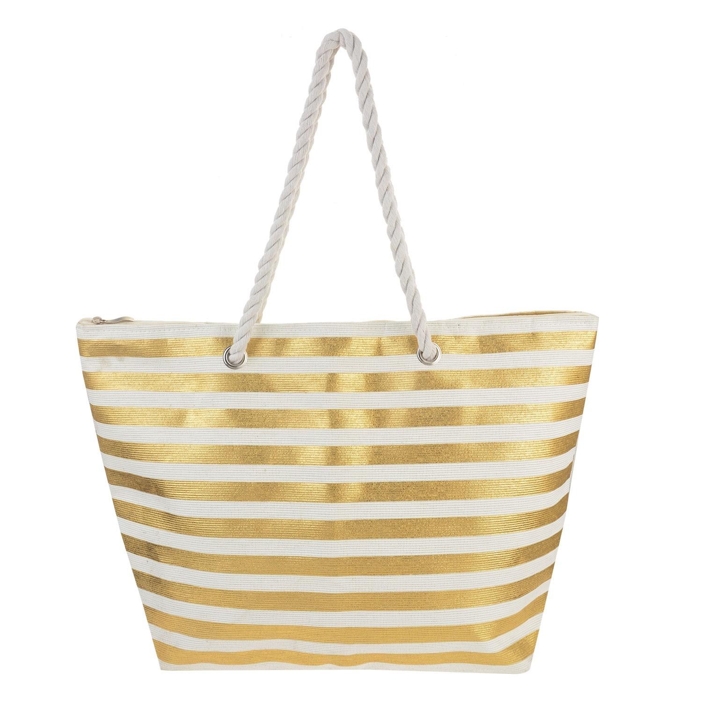 Juleeze Nákupní/plážová taška Goldy - 48*35*14 cm