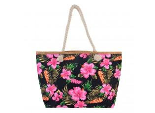 Černá nákupní/plážová taška Hawai - 55*33*13 cm