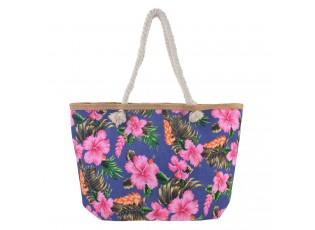Modrá nákupní/plážová taška Hawai - 55*33*13 cm