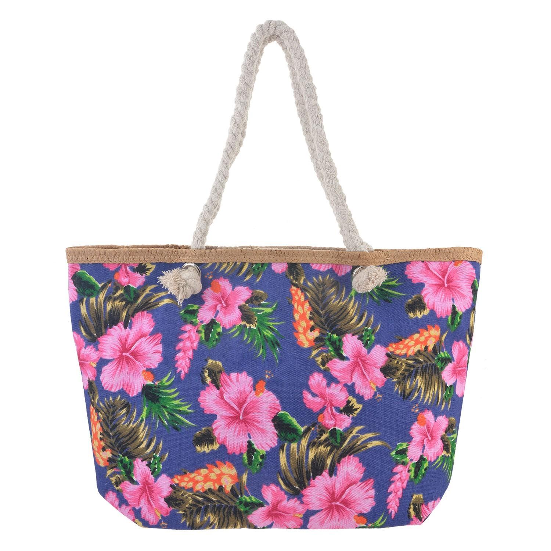 Juleeze Modrá nákupní/plážová taška Hawai - 55*33*13 cm