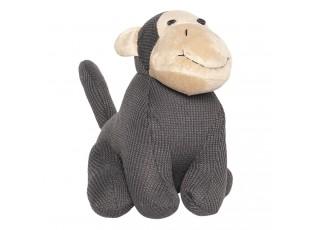 Dveřní zarážka šedá opice - 22*20*24 cm