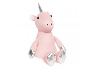 Dveřní zarážka růžový Jednorožec - 17*20*32 cm