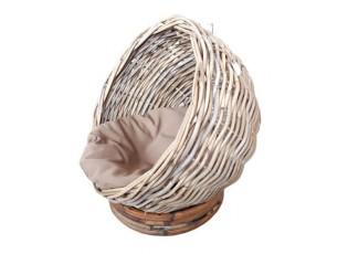 Ratanový pelíšek / křeslo pro kočku - Ø 40 *42 cm