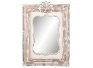 Nástěné dřevěné zrcadlo s patinou a odřením -  46*5*63 cm