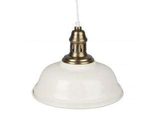 Krémové kovové závěsné světlo antik - Ø 27*16 cm