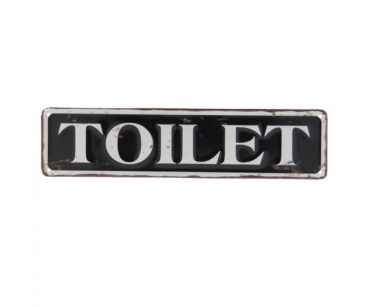 Plechová cedule Toilet - 40*10 cm