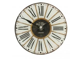 Skleněné stolní hodiny Old Town -  Ø 17*4 cm / 1xAA