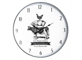 Kovové nástěnné hodiny The Farm - Ø 62*5 cm