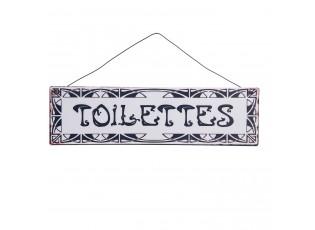 Plechová cedule Toilettes na zavěšení - 25*7 cm