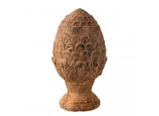 Dekorace hnědá teraková šiška - Ø8*15cm