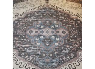 Modro-přírodní bavlněný koberec Victoria- 160*230cm