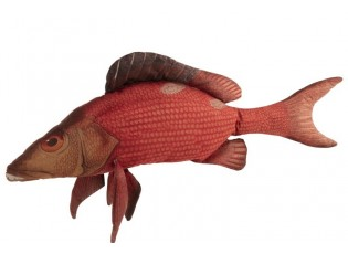 Červený polštář Fish Paul - 93*34*17cm