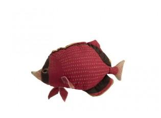 Červený polštář Fish Dory - 62*15*33cm