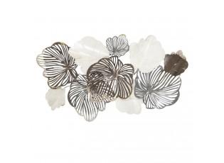 Nástěnná kovová dekorace Leaves - 133*12*69cm