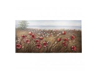 Nástěnná kovová dekorace/ obraz Flowers - 120*4*60cm
