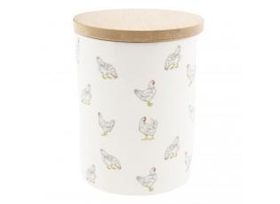 Keramická dóza Lucky Chicken - Ø 10*13 cm