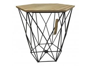 Odkládací stolek Diamond black - 36*36*40cm